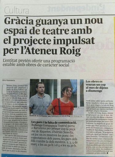 L'independent de Gràcia. Febrer 2017.